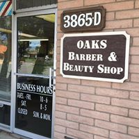 Oaks Barber And Beauty Shop logo