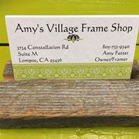 Amy's Village Frame Shop logo