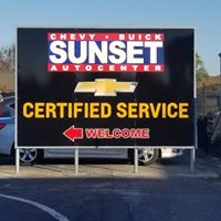 Sunset Auto Center logo