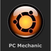 """Santa Barbara Computer Repair """"PC Mechanic"""" logo"""