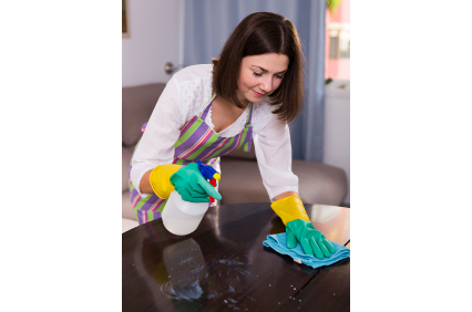 Clean & Bright Janitorial Service logo