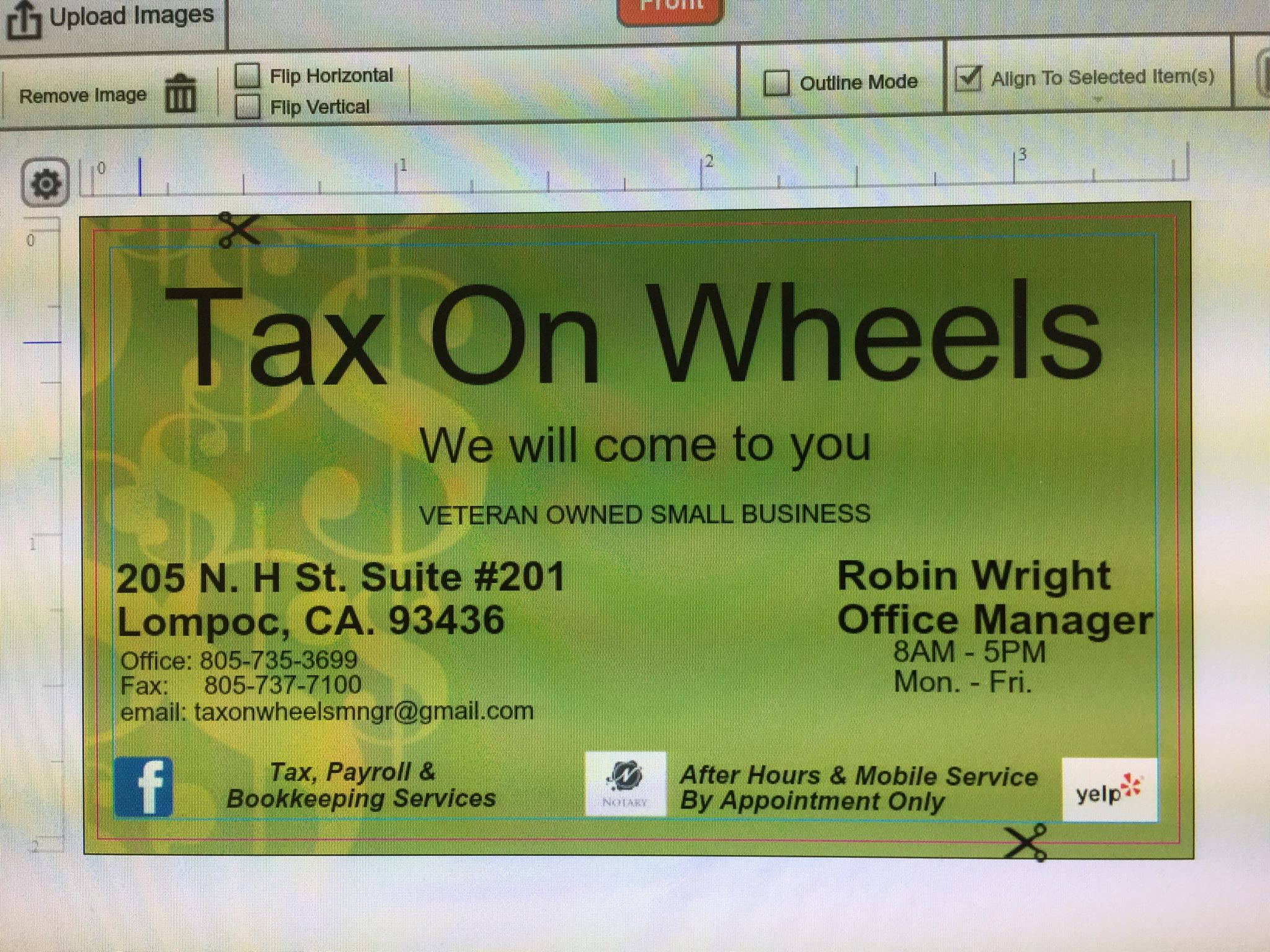 Tax On Wheels logo