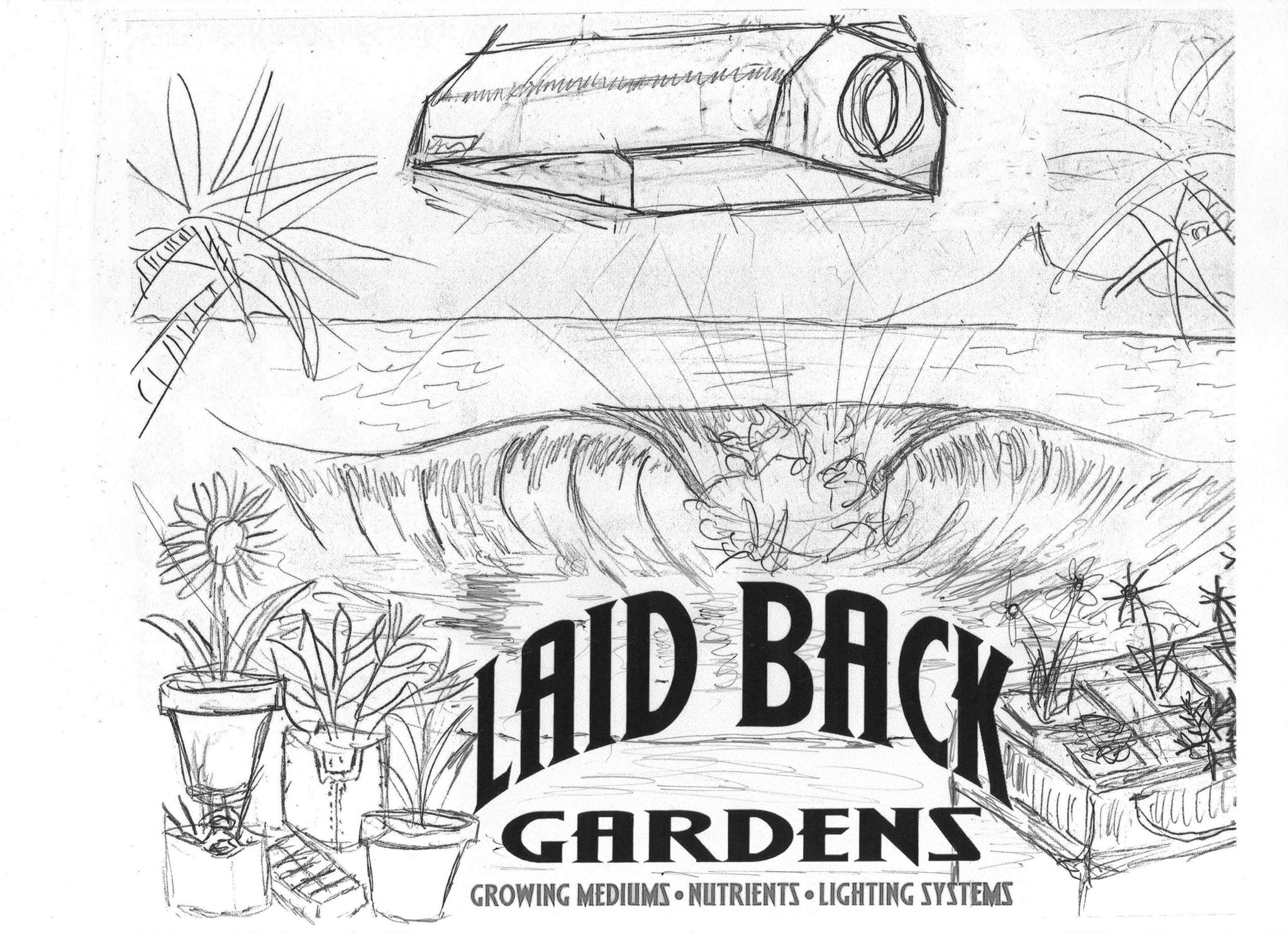 Laid Back Gardens logo