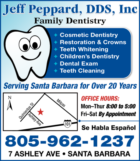 Print Ad of Peppard Jeff Dds