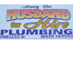 Honey Bee Husband For Hire Plumbing logo