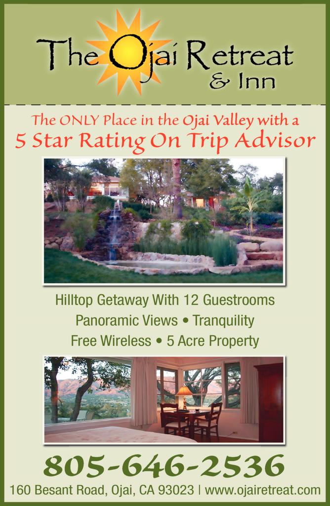 Yellow Pages Ad of Ojai Retreat & Inn The