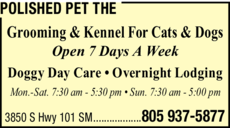 Yellow Pages Ad of Polished Pet The