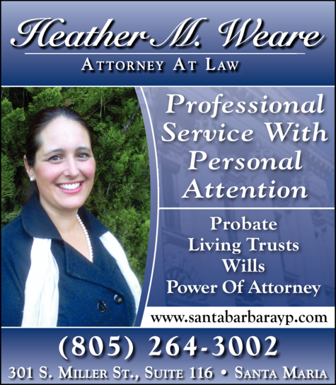 Yellow Pages Ad of Weare Heather M