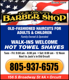 Yellow Pages Ad of Old Orcutt Barber Shop