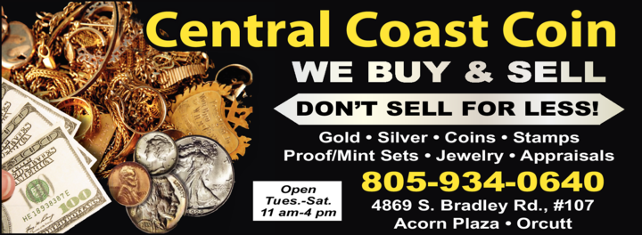 Yellow Pages Ad of Central Coast Coin
