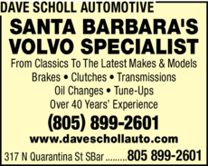 Yellow Pages Ad of Dave Scholl Automotive