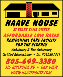 Yellow Pages Ad of Haave House