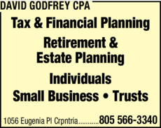 Yellow Pages Ad of David Godfrey Cpa