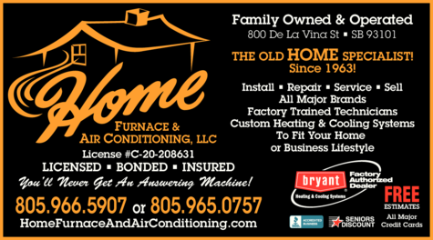 Yellow Pages Ad of Home Furnace And Air Conditioning Llc