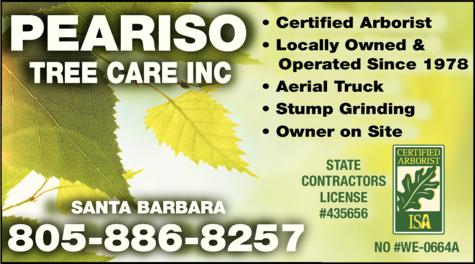 Yellow Pages Ad of Peariso Tree Care Inc