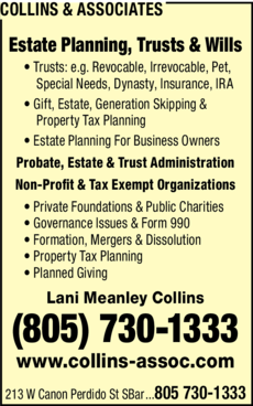 Yellow Pages Ad of Collins & Associates