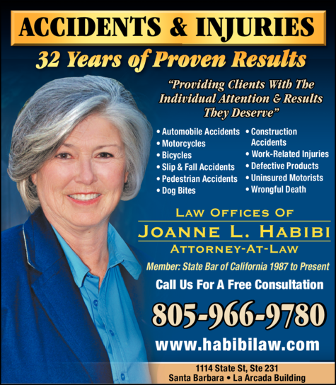 Yellow Pages Ad of Habibi Joanne Attorney At Law
