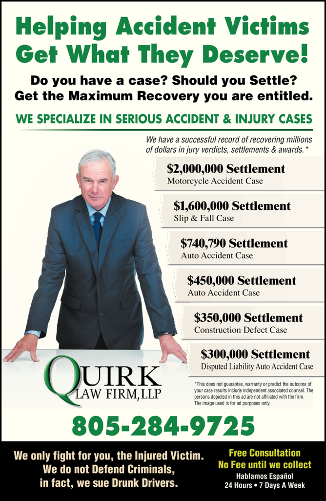 Yellow Pages Ad of Quirk Law Firm Llp
