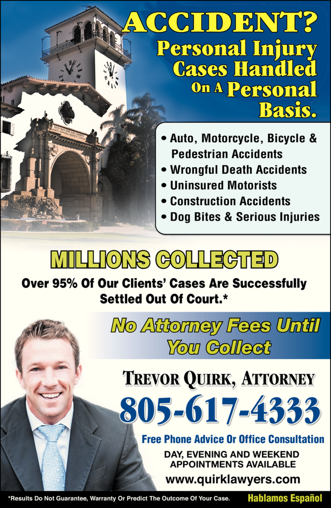 Yellow Pages Ad of Quirk Trevor - Attorney