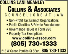 Yellow Pages Ad of Collins Lani Meanley