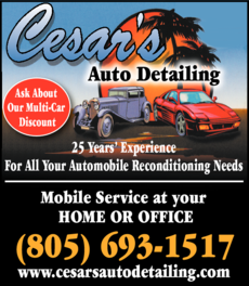 Yellow Pages Ad of Cesar's Auto Detailing