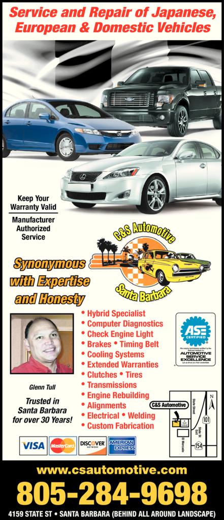 Print Ad of C & S Automotive