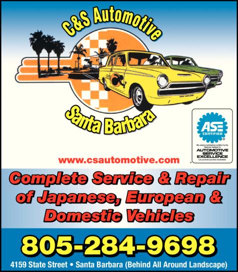Yellow Pages Ad of C & S Automotive Santa Barbara