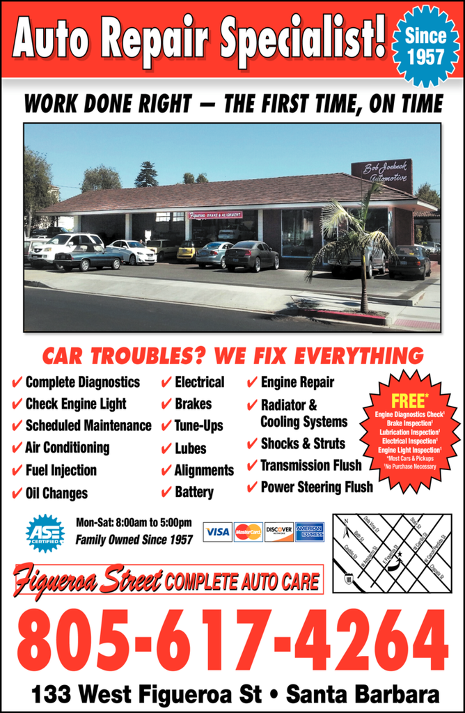 Yellow Pages Ad of Figueroa Street Complete Auto Care