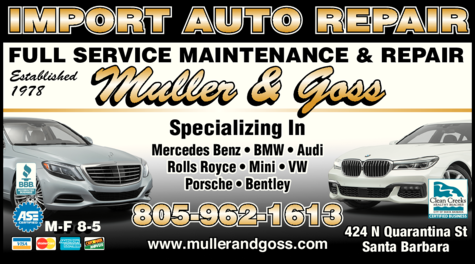 Yellow Pages Ad of Muller & Goss
