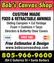 Yellow Pages Ad of Bob's Canvas Shop