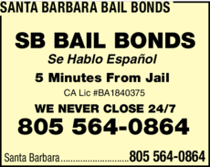 Yellow Pages Ad of Santa Barbara Bail Bonds
