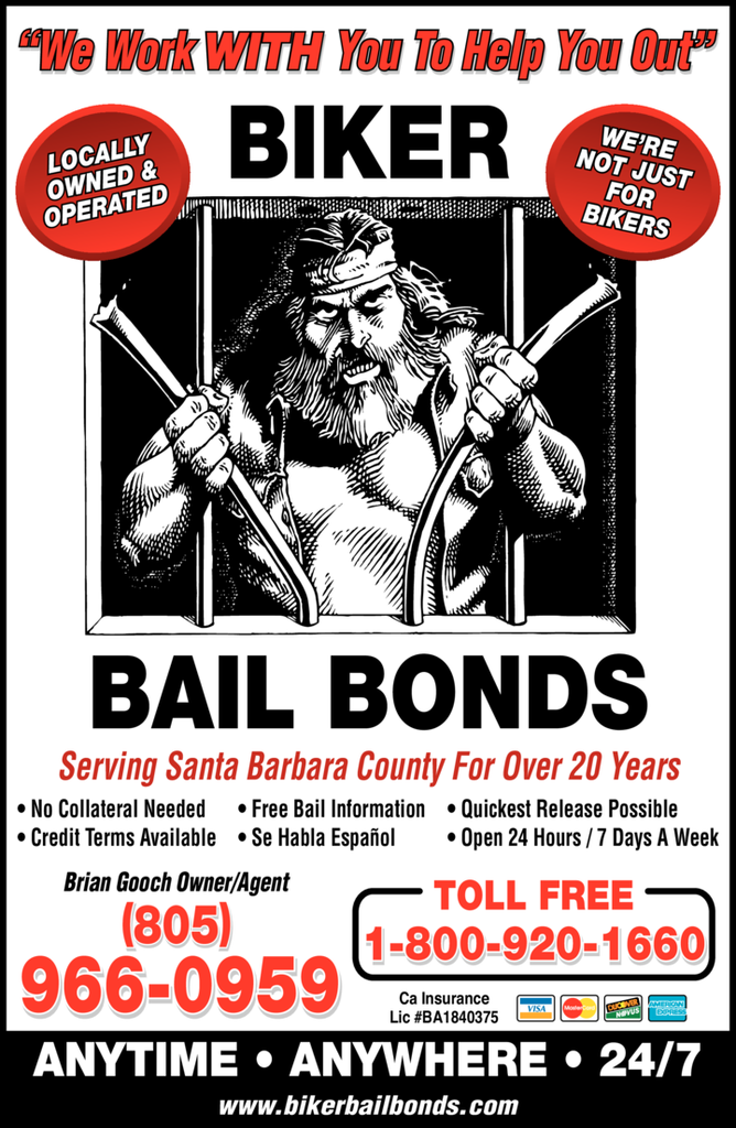 Yellow Pages Ad of Biker Bail Bonds