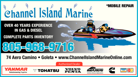 Yellow Pages Ad of Channel Island Marine