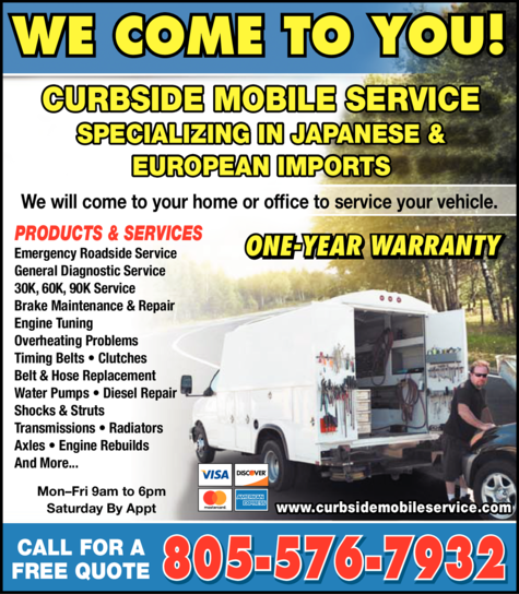 Print Ad of Curbside Mobile Service