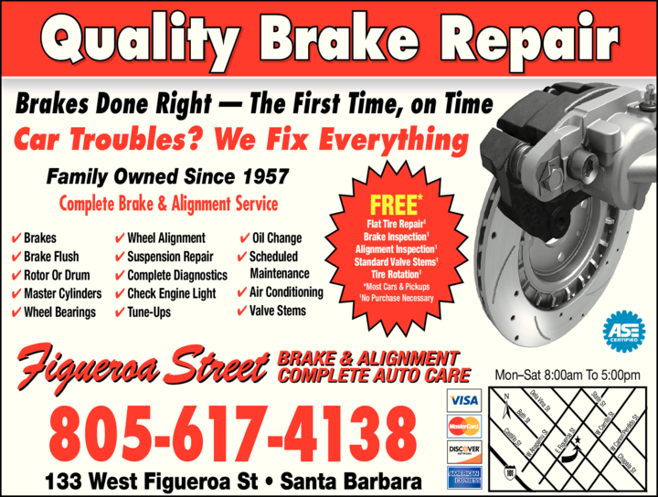 Yellow Pages Ad of Figueroa Street Brake & Alignment