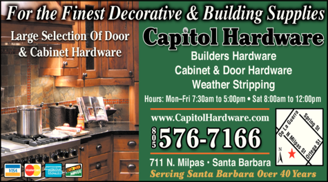 Yellow Pages Ad of Capitol Hardware