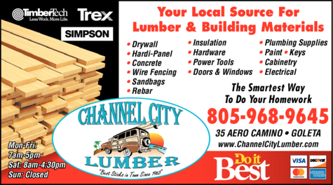 Yellow Pages Ad of Channel City Lumber