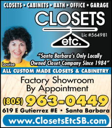 Yellow Pages Ad of Closets Etc