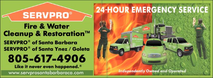Yellow Pages Ad of Servpro Of Santa Barbara