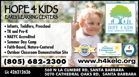 Yellow Pages Ad of Hope 4 Kids Early Learning Centers