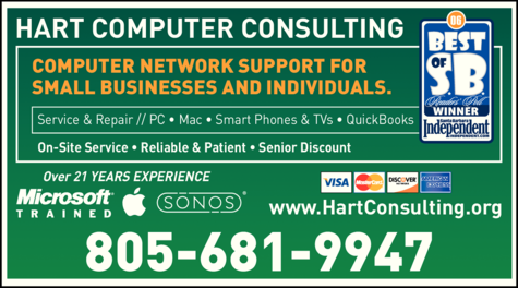 Yellow Pages Ad of Hart Computer Consulting