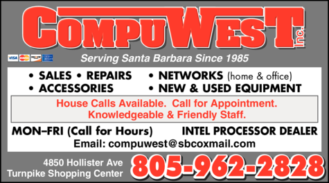 Yellow Pages Ad of Compuwest