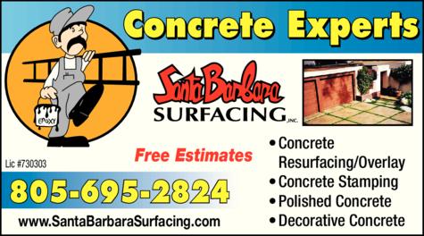 Yellow Pages Ad of Santa Barbara Surfacing