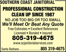 Print Ad of Southern Coast Janitorial