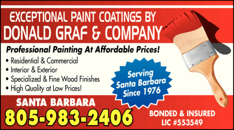 Yellow Pages Ad of Exceptional Paint Coatings By Donald Graf & Company