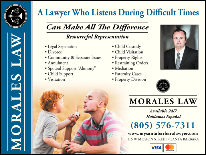 Yellow Pages Ad of Morales Law