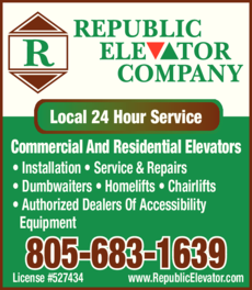 Yellow Pages Ad of Republic Elevator