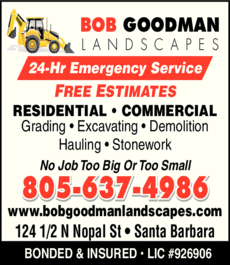 Yellow Pages Ad of Bob Goodman Landscapes