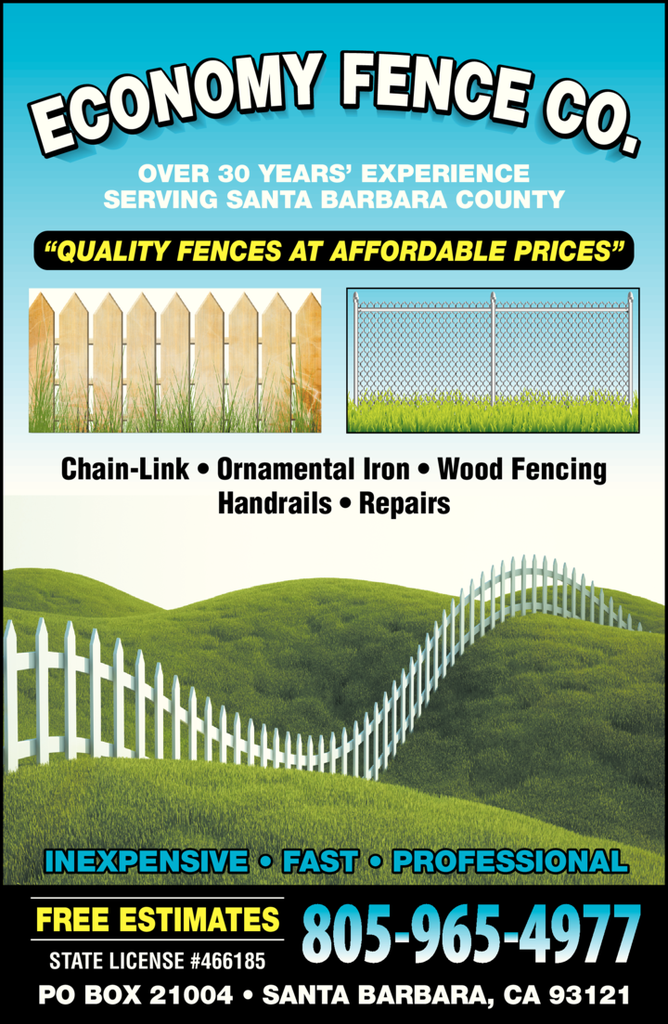 Yellow Pages Ad of Economy Fence Co