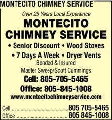 Yellow Pages Ad of Montecito Chimney Service